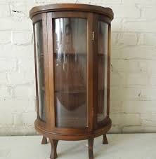 curved glass curio cabinet. Interesting Cabinet Vintage 22 34 For Curved Glass Curio Cabinet R