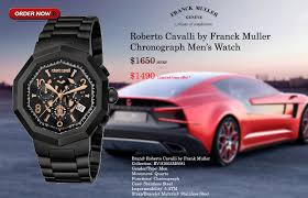 sertior high end watches for sports car enthusiasts roberto cavalli by franck muller chronograph men s watch brand roberto cavalli by frank muller collection rv1g003m0081 gender type men movement