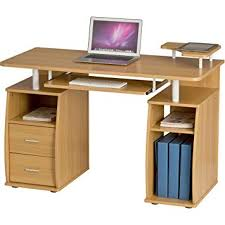 computer desk. Delighful Desk Computer Desk With Shelves Cupboard And Drawers For Home Office In Oak  Effect  Piranha For S