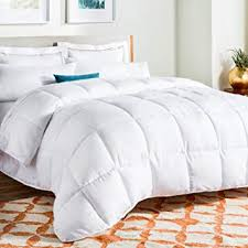 Linenspa All Season White Down Alternative Quilted Comforter Corner Duvet Tabs Hypoallergenic Plush Microfiber Fill Machine Washable Duvet