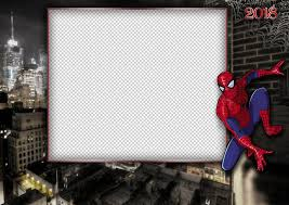 photo frame template spiderman