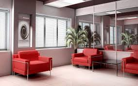 donna top decorating office. Home Decor Large-size Simple Red Sofas With Glasses Table Also Ceramic Tile Flooring And Donna Top Decorating Office