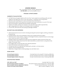 Personal Support Worker Resume Examples Ideas Collection Top