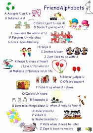 Support Quotes For Friends 19 Awesome The Friend Alphabets School Pinterest