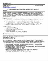 Pharmaceutical Representative Resume Sidemcicek Com