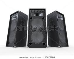 dj speakers clipart. large audio speakers isolated on white background dj clipart