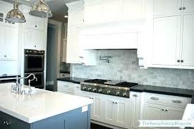 white tile backsplash kitchen white mosaic brick tile white subway