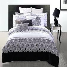 aegetsubjectblack and white zigzag duvet cover nz black super king covers