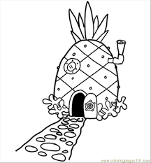 Small Picture 14 Pineapplehousesquare 300 Coloring Page Free Pineapples