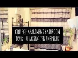 college apartment bathrooms. Modren Apartment College Apartment Bathroom Decorating On A Budget  Tour  Relaxing Zen  Inspired On Bathrooms