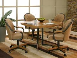 dining chairs casters beautiful dining room chairs with arms to inside kitchen table chairs with wheels pertaining to residence