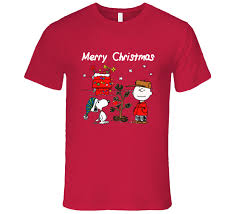 Brown Christmas Graphic T-Shirt Snoopy Christmas tee
