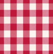 elastic fitted polyester round tablecloth in red white check fits 30 round 2