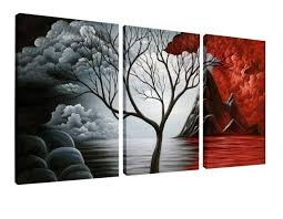 framed the cloud tree wall art large canvas painting picture print home decor