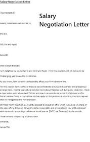 salary negotiation letter examples | Template salary negotiation letter examples