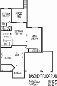 house plans with finished basement luxury basement floor plans fresh