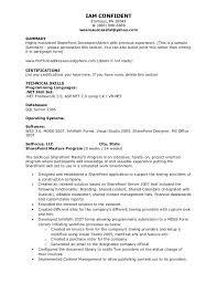 System Administrator Resume From Sharepoint Resume Roho 4senses