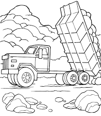 Small Picture Fresh Dump Truck Coloring Pages 85 In Line Drawings with Dump
