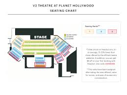 Cashman Center Theater Seating Chart 61 Particular Planet Hollywood Concert Venue