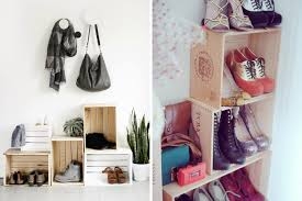 crate shoe rack entryway organizing ideas shoe organizing and storage ideas