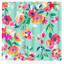 smart hawaiian flower shower curtain best of best pink fl shower curtain s on