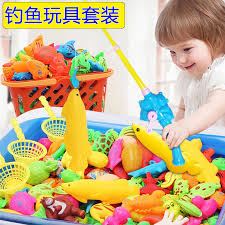sdi magnetic children s fishing toys baby s playing toys 1 3 year old boys s and children s inflatable fishing pond family set fishing 32 sets 2