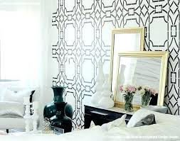 black and white wallpaper bedroom for bedrooms modern wall stencils floor30 stencils