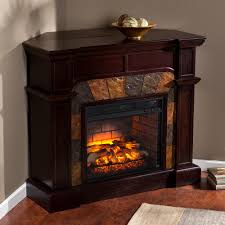 w faux stone corner infrared electric fireplace