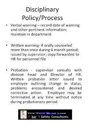 disciplinary policy template. Employee safety discipline