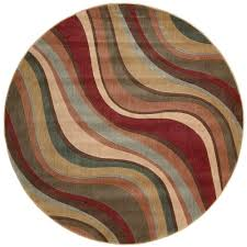 nourison somerset multicolor 6 ft round area rug