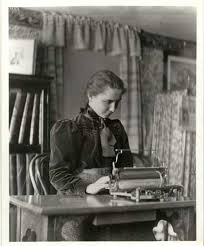 helen keller the story of my life chapter xviii helen keller as a young college student typing on an old fashioned machine