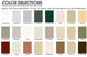 California Paint Color Chart California Custom Sheds Shed Options