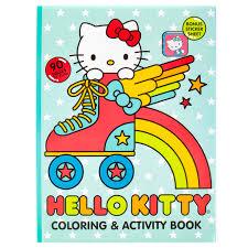 Hello kitty among flowers and hearts. Hello Kitty Coloring Book 90 Pgs Walmart Com Walmart Com