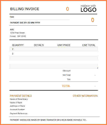 sample billing invoice 6 template for billing invoice invoice template