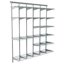 closet maid wire shelving max load garage 6 ft x in satin chrome ventilated wire shelf closet maid wire shelving