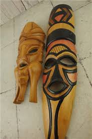 details about 2x mask wooden carving african tribal ethnic style home decor wall hangings 16