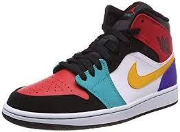 Amazon Com Air Jordan 1 Mid Multi Color 554724 125