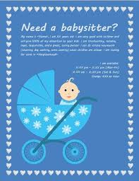 Babysitting Ads Tuition Advertisement Samplesample Advertisement For