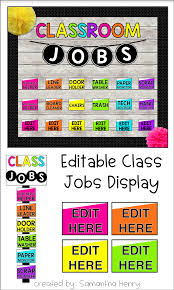 First Grade Classroom Job Chart Brighten Up Your Classroom With This Easy To Use Editable