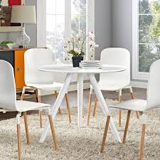Modway Lippa 36 Wood Top Dining Table With Tripod Base In White