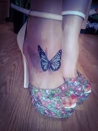 тату на ноге для девушек бабочки фото