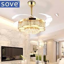 living room ceiling fan inch modern led crystal ceiling light fan living room bedroom invisible ceiling
