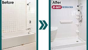 bathtub to shower conversion nebraska rebath here to view more before and after bathroom remodeling photos