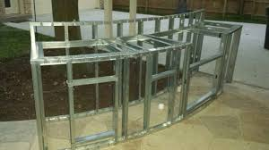 Steel Frame Outdoor Kitchen Similiar Outdoor Fireplace Made From Steel Studs Keywords