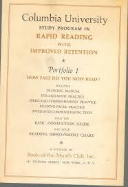 Columbia University Study Program In Rapid Reading With
