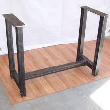 Desk legs wood Wooden Industrial Steel Beam Bar Base Kitchen Island Heavy Metal Iron Table Desk Legs Image Modern Iron Works Industrial Steel Beam Bar Base Kitchen Island Heavy Metal Iron