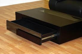 wenge coffee table with drawer