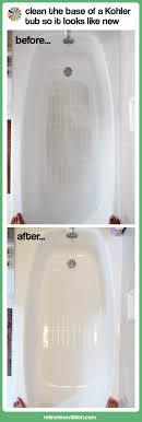 how to clean kohler tub