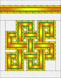 Queen Size Quilt Patterns Mesmerizing Celtic Knot Quilt Pattern FullQueen Size Quilt Pattern Etsy