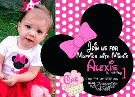 Free Minnie Mouse Birthday Invitations Minnie Mouse First Birthday Invitation Template